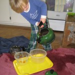 What is Montessori? Tea pot water play!