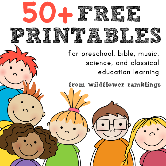 FREE Printables for preschool and more!! - Wildflower Ramblings