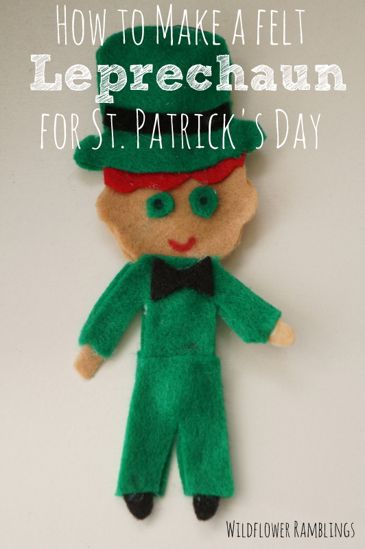 graphic regarding Leprechaun Feet Printable known as How toward deliver a felt leprechaun for St. Patricks Working day