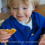 wordless wednesday: learning shapes with quesadillas