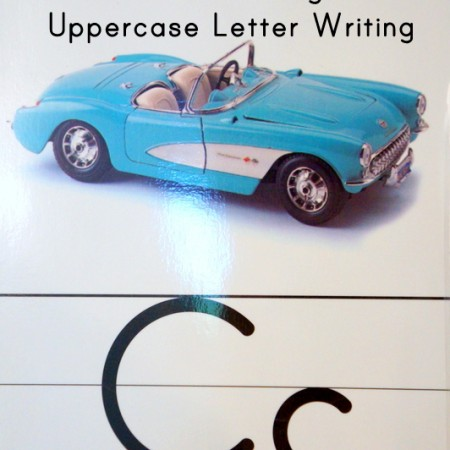 {Early Literacy Stage 3} Utensil Prewriting and Uppercase Letter Writing