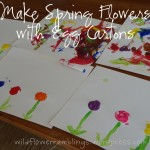 wordless wednesday: make spring flowers with egg cartons