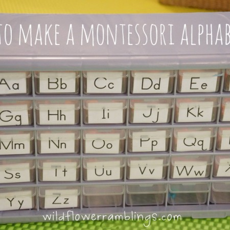 How to make a Montessori Alphabet Box