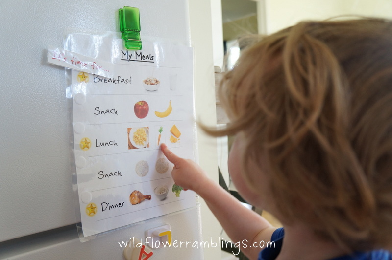 my meals chart {free printable}