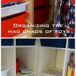 organizing the mad chaos of toys {a montessori set-up}
