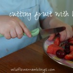 practical life skills: cutting fruit with knife