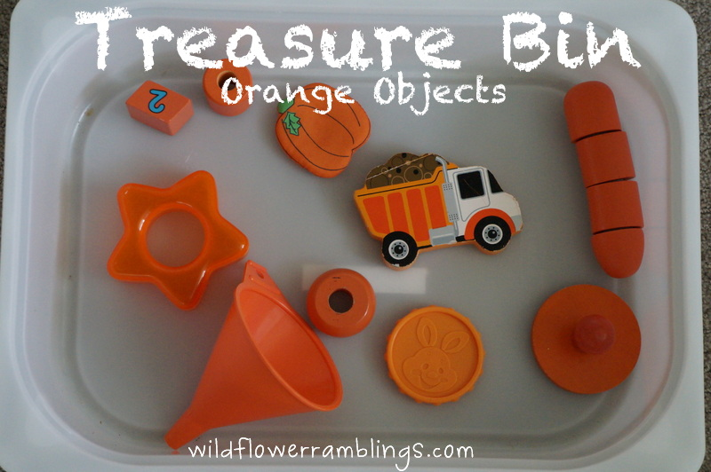 Treasure Bin: Orange Objects