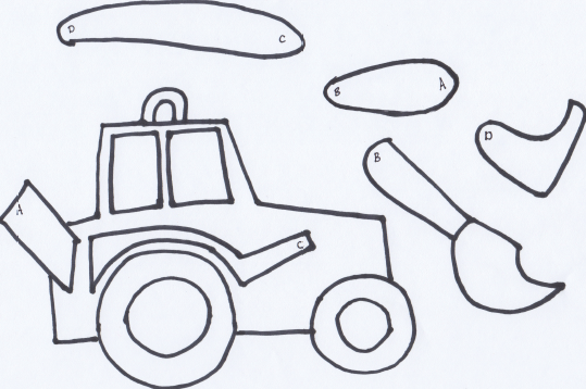 Make a movable tractor free printable wildflower for Tractor template to print