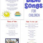 15 Bible songs to teach little ones! {with free printable}