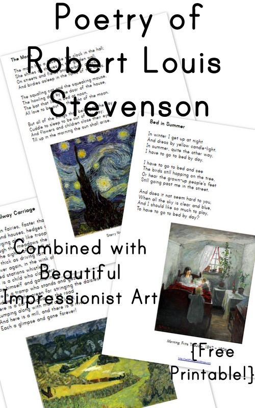 Poems of Robert Louis Stevenson: Volume 1 {free printable!}