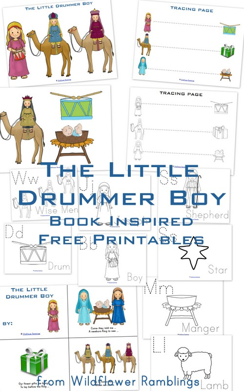 The Little Drummer Boy {free book-inspired printables ...
