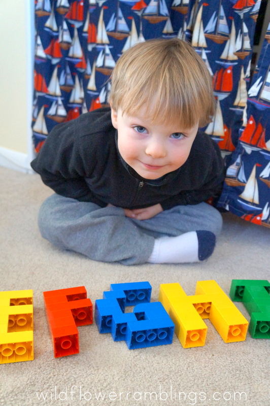 Alphabet Lego Cards - Uppercase {free printable!}