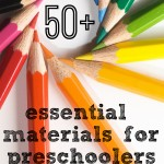 learning tools for children {our essential preschool materials}