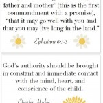 Parenting Poster: God's Authority in the Home {free printable!}