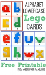 Lowercase Lego Cards - wildflower ramblings