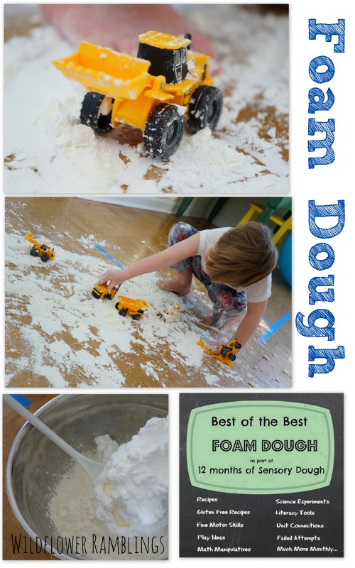 foam dough {12 months of sensory dough}