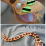 How to Make a Felt Viper {ABC Animals in Felt}