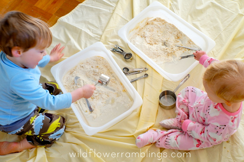 gluten free cloud dough {12 months of sensory dough} from Wildflower Ramblings