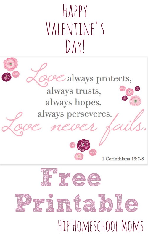 Happy Valentine's Day! {free printable of 1 Corinthians 13 ...