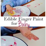 Edible Finger Painting for Baby