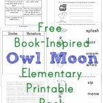 Owl Moon {Book-Inspired Elementary Printables}