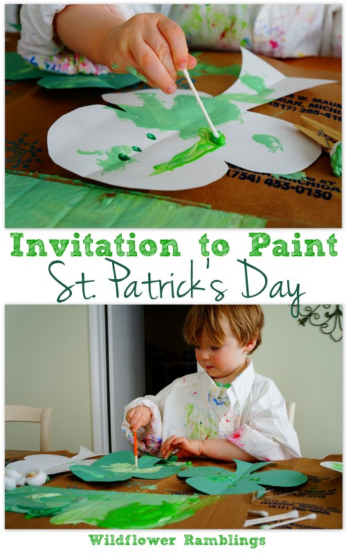 Invitation to Paint: St. Patrick's Day from Wildflower Ramblings