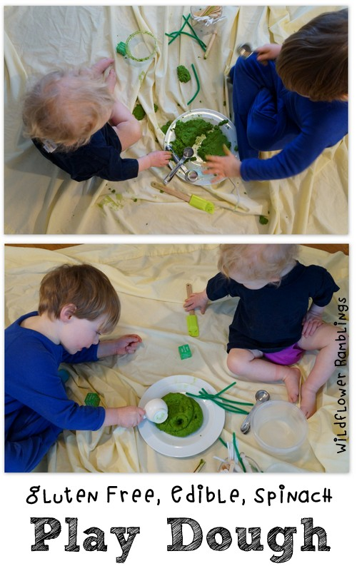 gluten free edible spinach play dough by wildflower ramblings