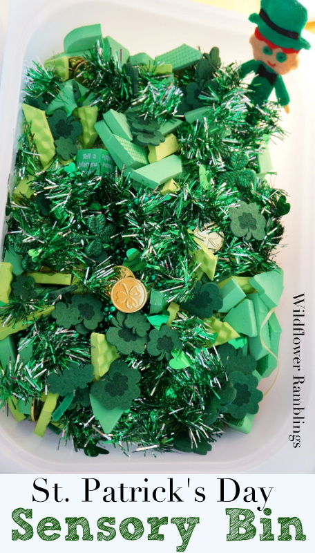 St. Patrick's Day Sensory Bin from Wildflower Ramblings