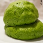 Gluten free edible spinach play dough
