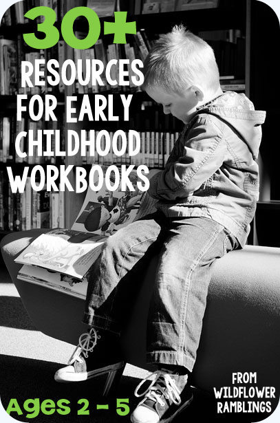 30+ best workbooks to purchase for early childhood {preschool resources by subject for learning at home}