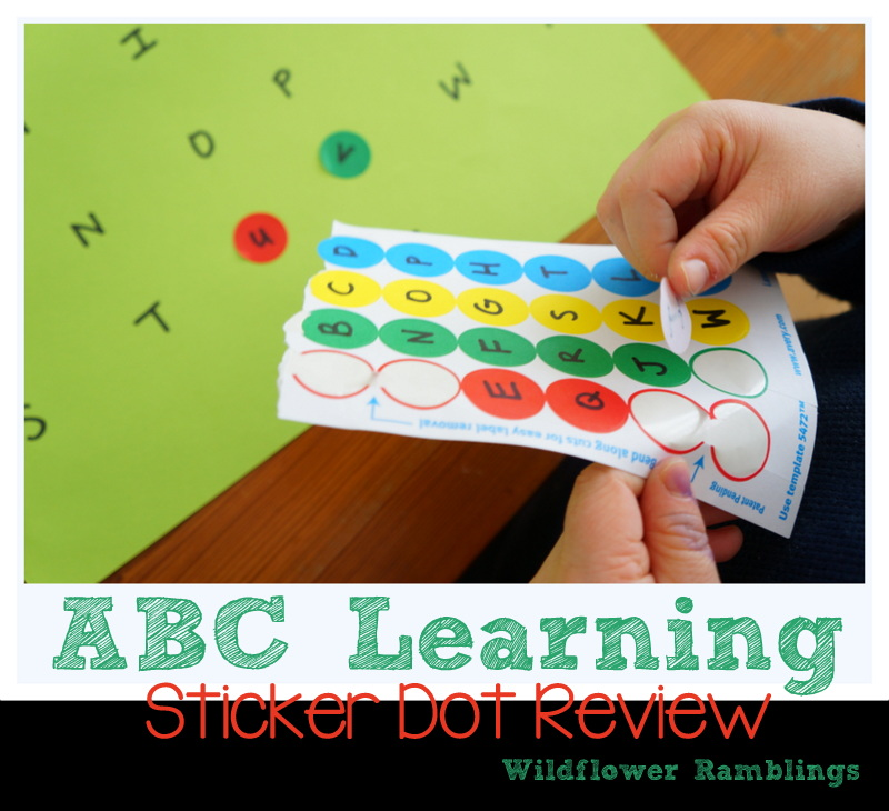 ABC Learning: Sticker Dot Letter Review