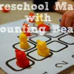Preschool Math with Counting Bears {free printable!}