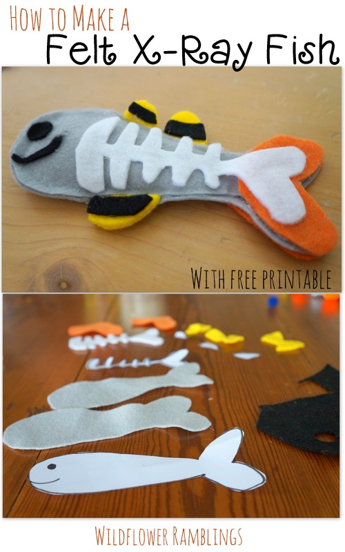 How to make a Felt X-ray Fish {ABC Felt Animals}