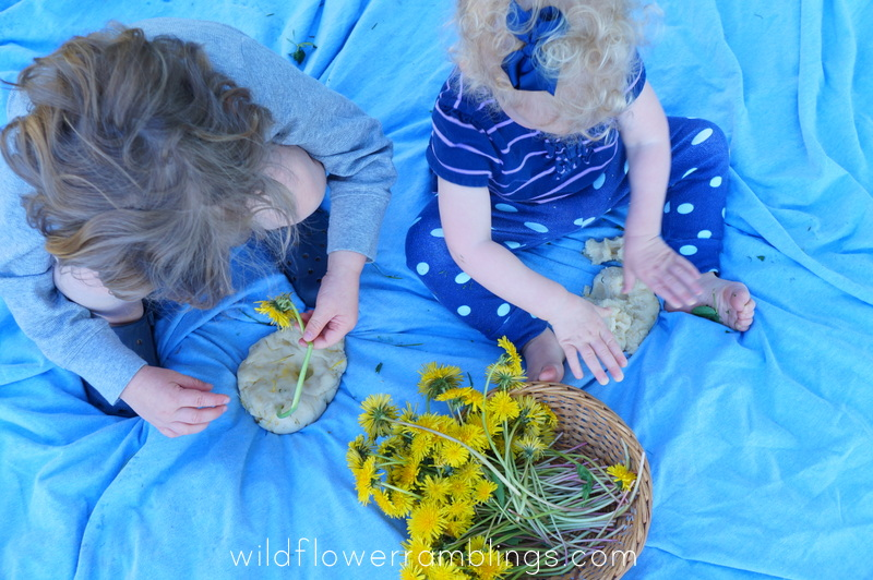 dandelion playdough recipe - Wildflower Ramblings