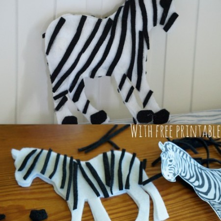 How to make a Felt Zebra {ABC Felt Animals}