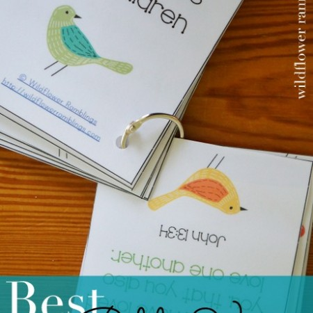 10 Best Bible Verses for Children {free printable!}