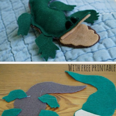 How to make a Felt Alligator {ABC Felt Animals}