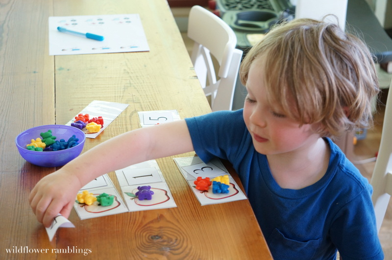 Home Preschool: Letter A from Wildflower Ramblings #preschool