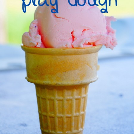 ice cream play dough {12 months of sensory dough}