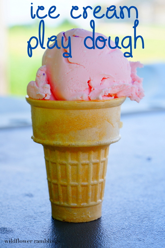 ice cream play dough from wildflower ramblings #sensory #playdough