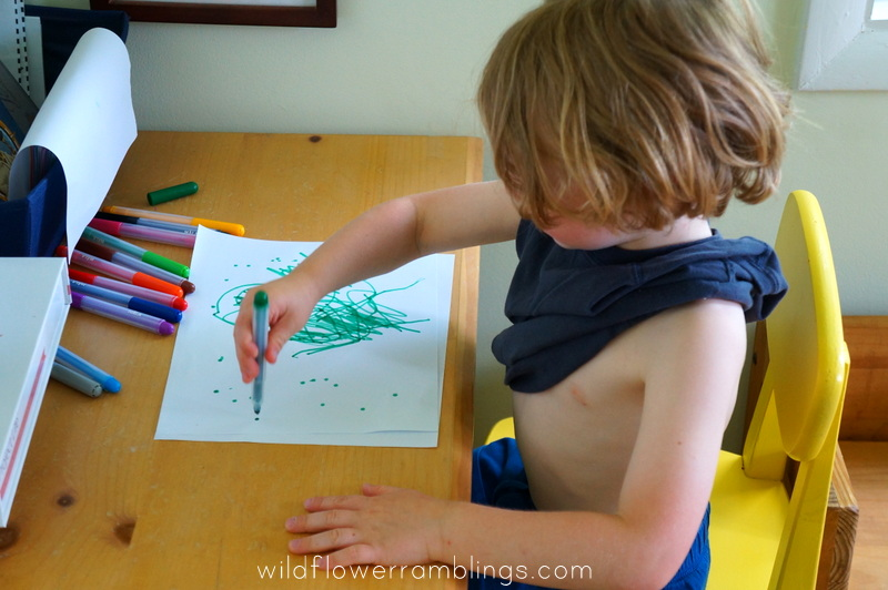 "drawing an ""I'm Sorry"" picture {early writing skills} from wildflower ramblings"
