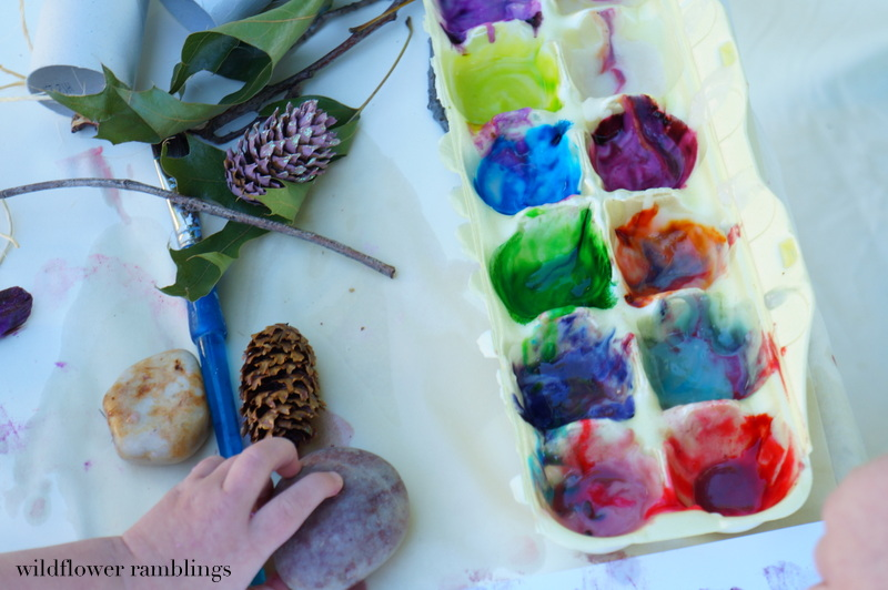Reggio-Inspired Approach to Art Process form WIldflower Ramblings