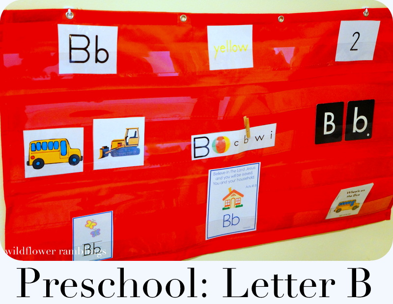 Home Preschool : Letter B - Wildflower Ramblings