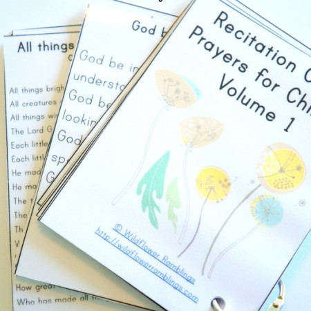 Prayer Cards for Children {free printable!}