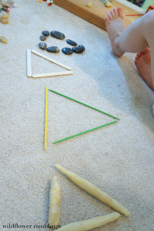reggio inspired learning about shapes - Wildflower Ramblings #preschool