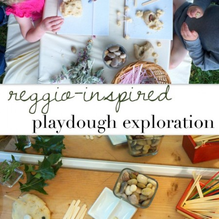 reggio inspired playdough exploration