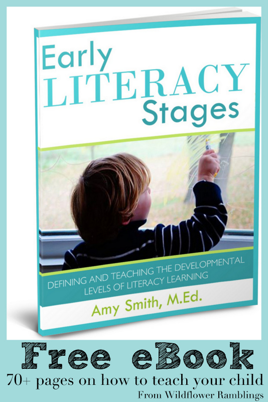 FREE Early Literacy Stages EBook from Wildflower Ramblings #alphabet #preschool