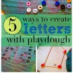making letters with play dough