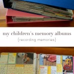 my children's project life albums {recording memories}