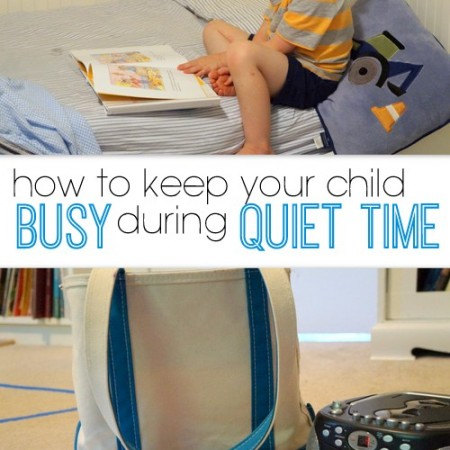 how to keep your child busy during quiet time